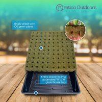 Rockwool Grow Cubes Starter Plug – 1-Inch, 100 Cubes