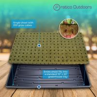 Rockwool Grow Cubes Starter Plug – 1-Inch, 200 Cubes