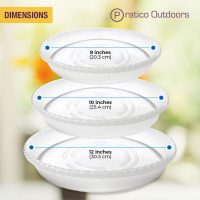Assorted Sizes Clear Plastic Plant Saucer – 15 Pack