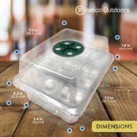12-Cell Seedling Starter Tray Kit, Clear – 5 Pack