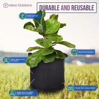 Fabric Grow Pots, 5 Gallon – 5 Pack